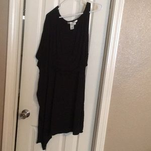 Max studio black dress size small one shoulder